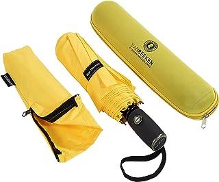 Regenschirm Sturmfest I kompakter Taschenschirm VAN BEEKEN – windfest bis 140 km/h, wasserabweisend, klein, leicht – Stabiler Schirm mit voll-automatischer Auf Zu Automatik, 95 cm Gelb