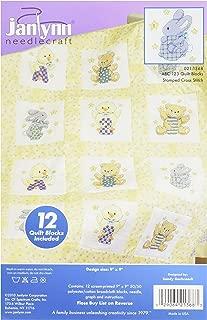 Janlynn Stamped ABC 123 Quilt Blocks