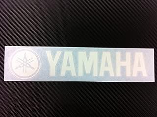 1x Yamaha Racing Decal Sticker (New) White Size 8''x1.75''