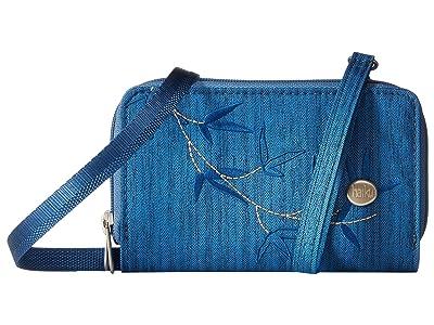 Haiku Cadence Phone Wallet (Sapphire) Handbags