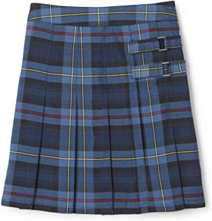 Girls' Plaid Two-Tab Scooter Skirt