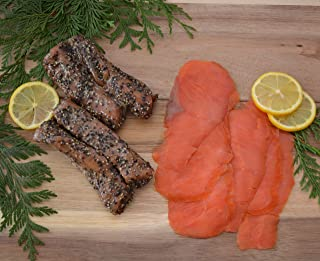 Wild Caught Canadian Smoked Sockeye Salmon Nova Lox and Indian Candy Combo ((1 Lbs Each (Tot 2 Lbs))