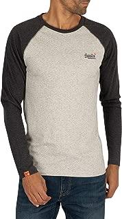 Superdry Orange Label Texture Baseball Ls Top Long Sleeve T-Shirt
