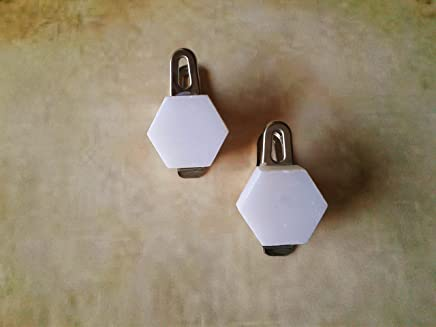 12 Hexa Clip On Shower Curtain Weights~Tablecloth Weights ~ Stainless Steel Clip