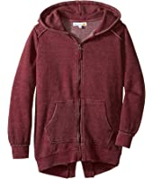C&C California Kids - Burnout Fleece Tunic Length Thermal Hood Lining (Little Kids/Big Kids)