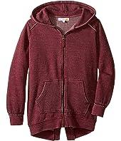 C&C California Kids - Burnout Fleece Tunic Length Thermal Hood Lining (Little Kids/Big Kids)