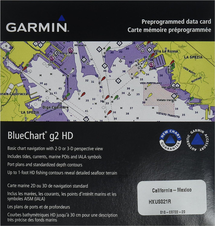Garmin BlueChart g2 California/Mexico Saltwater Map microSD Card