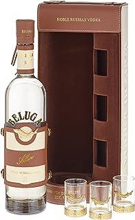 Beluga Allure Noble Russian Wodka in Ledertasche mit 3 Gläsern 1 x 0.7 l