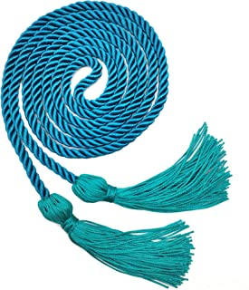 GraduationRoyal Honor Cord,Single Braided Cord Length 68'',Grad Days Available in 15 Colors (Turquoise)