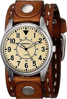ネメシスMen 's 095bdst-n Uniqueシリーズアナログディスプレイ日本クォーツブラウン腕時計