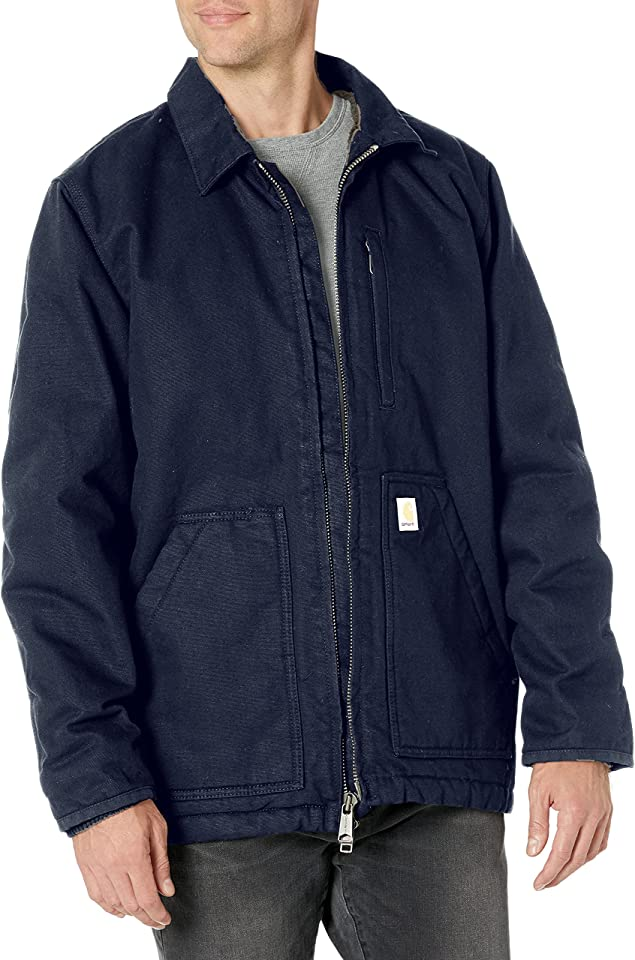 Carhartt Men's Loose Fit Washed Duck Sherpa-lined Coat
