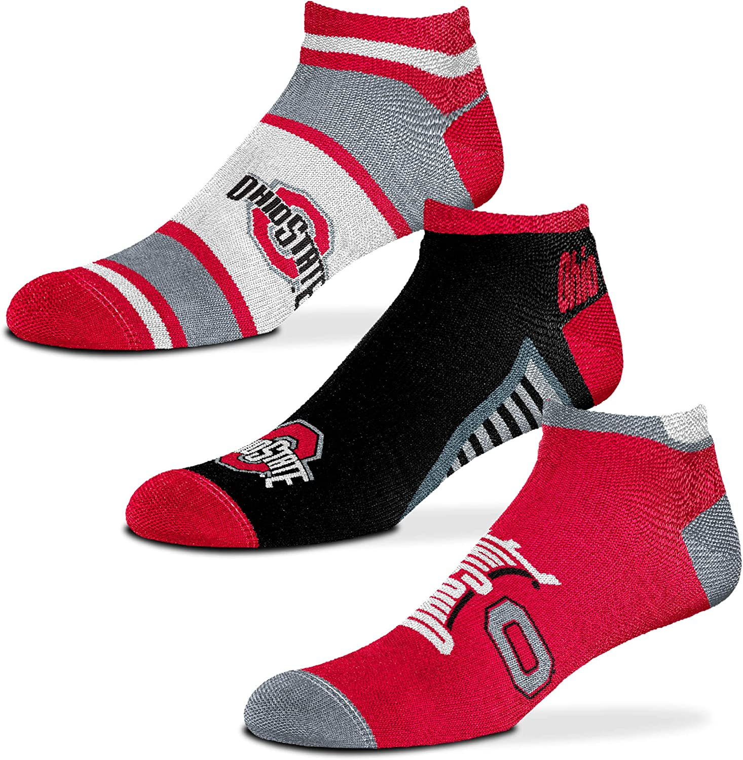 NCAA Show Me The Money! For Bare Feet 3 Pack No Show Ankle Socks