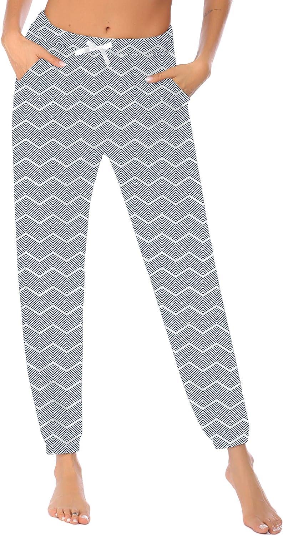 Ekouaer Women's Pajama Pants Loose Casual Lounge Pants Plaid Pj Bottom Comfy Sleep Pants with Pockets