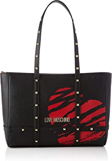 Love Moschino Precollezione SS21 | Borsa Shopper PU da Donna, Spalla, Nero, Normal