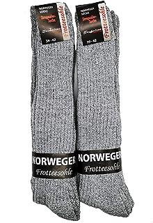 Schenk, 6 pares de calcetines noruegos, color gris, con suela de rizo, para hombre, 72% lana, cálidos e ideales para zapatos de trabajo y zapatos de seguridad, calcetines noruegos, largos