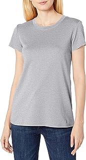 Lark & Ro Pima - Camiseta de algodón con Cuello en V Camiseta para Mujer