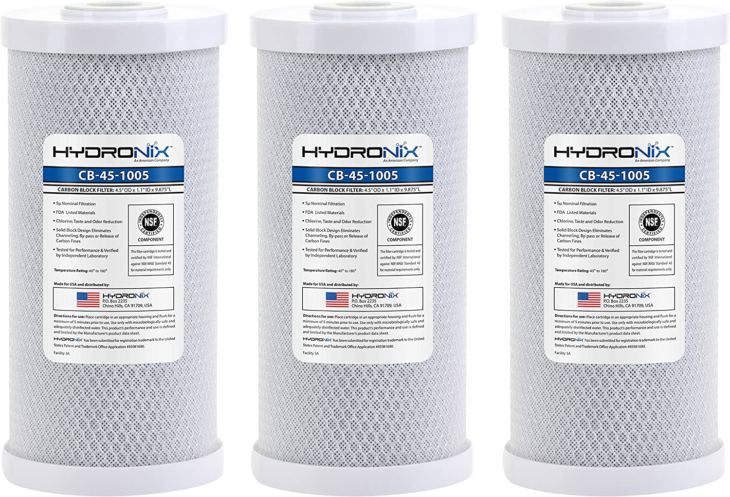 All items in the store Import Hydronix HX-CB-45-1005 3 Whole House Acti Coconut Commercial NSF