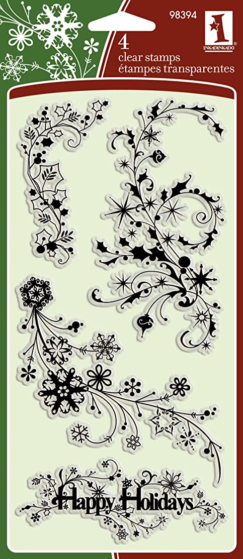 Inkadinkado Winter Trails Clear Stamps