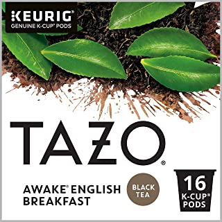 Tazo Awake English Breakfast K-Cup Pods For a Bold Traditional Breakfast-Style K-Cup Tea Black Tea Caffeinated Morning Dri...