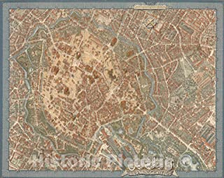 Historic Pictoric Map : Braunschweig 1954, 1954, Vintage Wall Decor : 55in x 44in