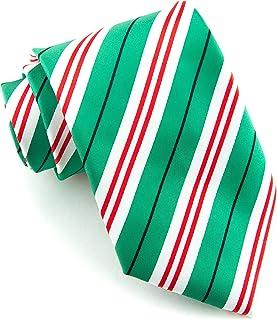 Littlest Prince Couture Emerald & Peppermint Stripe Adult Necktie