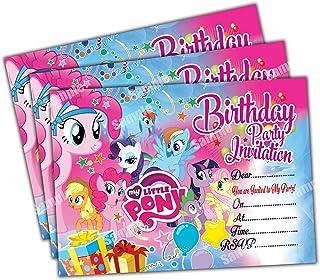 Invitations 20 X My Little Pony Kids Birthday Party Invites Cards Quality Girls