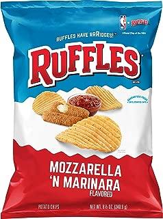 Ruffles Mozzarella & Marinara Flavored Potato Chips, 8.5 oz Bag