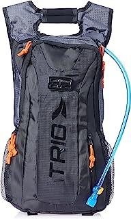 Mochila de Hidratação Adventure com Alças Ajustáveis Material em Poliéster e PVC Preto/Cinza Atrio Reservatório para Água ...