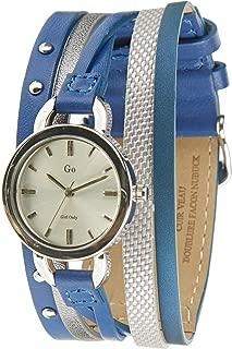 – 698554 – Reloj Mujer – Cuarzo Analógico – Reloj Plata – Pulsera Piel Azul