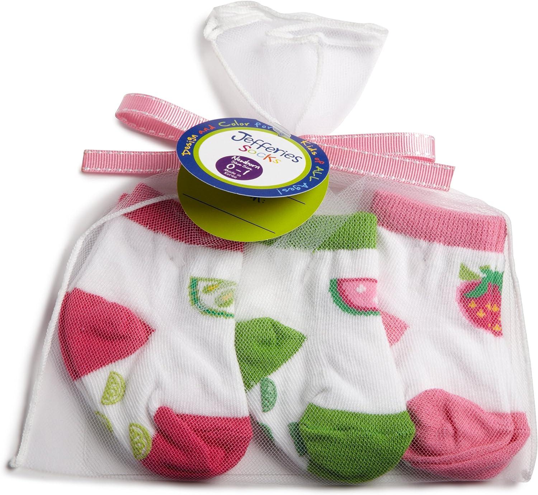 Jefferies Socks Girl's Tutti Fruitty Nonskid 3 Pair Pack Gift Set