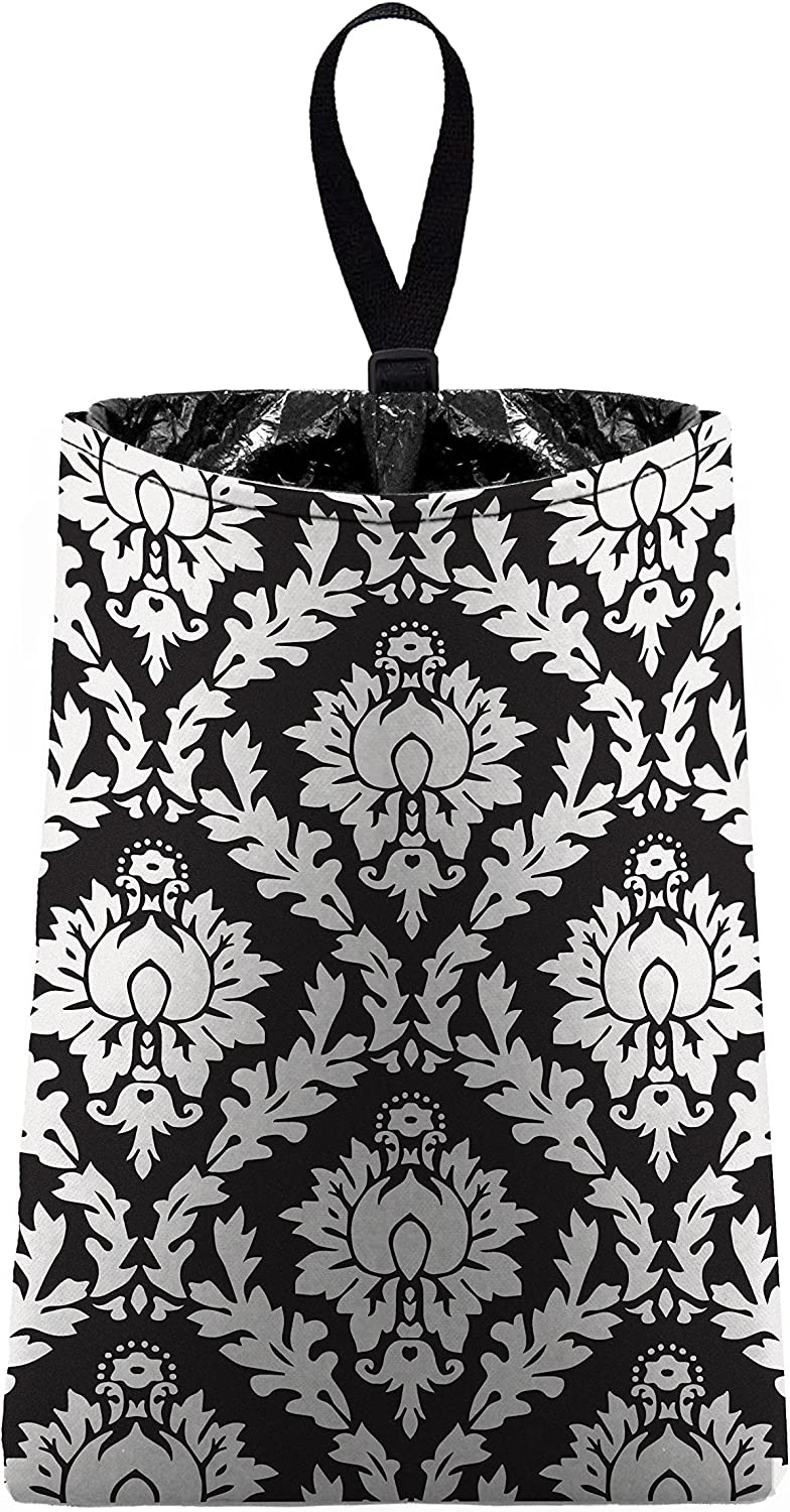 The Mod Mobile Max 75% Beauty products OFF Auto Trash Black by car litter trash bag Damask