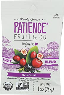 Patience Fruit & Co. Organic Classic Fruit Blend Fruit Snacks 1 Ounce (Pack of 15) Non-GMO USDA Organic Fruit Snacks