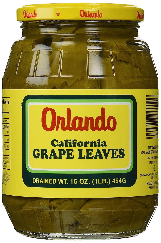 California Grape Leaves Orlando 2lb Jar Dr Wt 16oz Amazon Com Grocery Gourmet Food