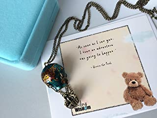 Smiling Wisdom - Hot Air Balloon Necklace Gift Set - Pooh Quote - Friendship, Daughter, Sister, Mom, Best Friend Gifts for Her - Limited Edition