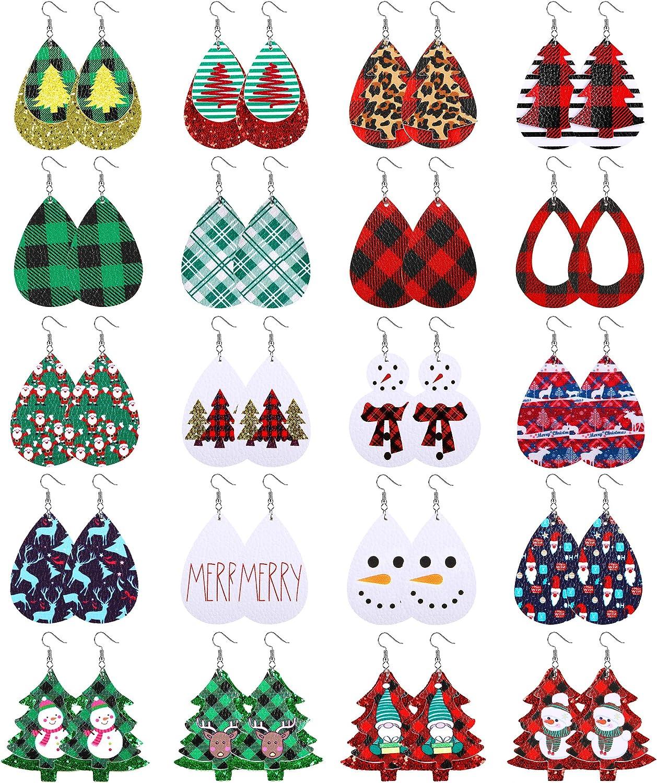 Ranking TOP16 Leather Free Shipping New Earrings for Women Dang Christmas Xmas Teardrop
