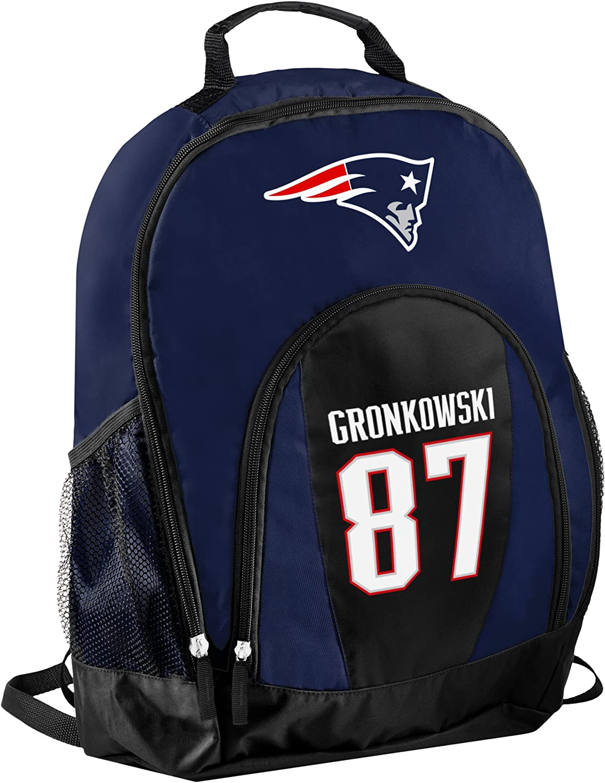 TBFC New England Patriots Official NFL Primetime Backpack Gym Bag  Rob Gronkowski  87