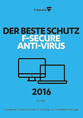 F-Secure Anti-Virus 2016 PC Upgrade - 1 Jahr / 1 Computer [Online Code]