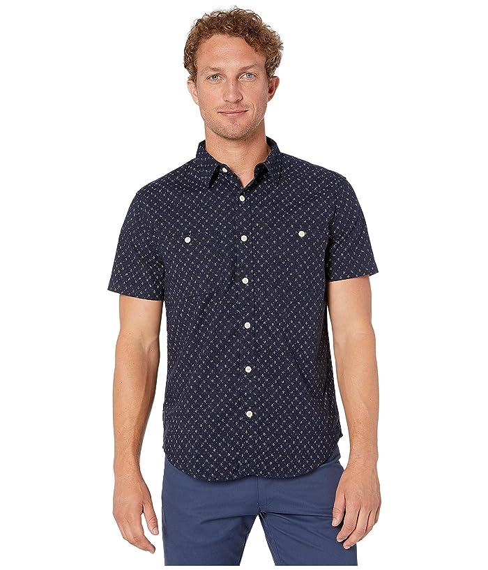 Lucky Brand  Short Sleeve Mason Shirt (Indigo) Mens Clothing