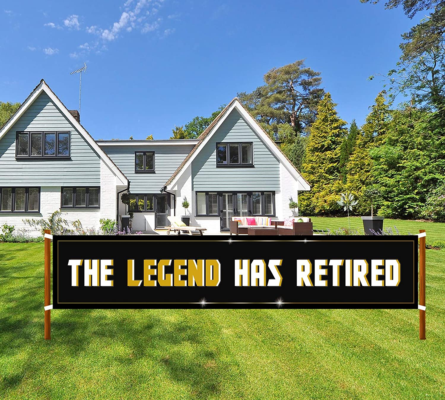The Legend Has Retired Retirement Sign Banner Large Popular products Spring new work