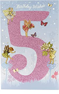 Flower Fairies Age 5 Girls Birthday Card