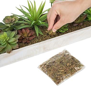 MyGift 24-Inch Artificial Faux Succulent Arrangement in Rustic White Wood Planter Box