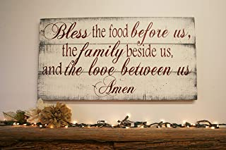 Bless The Food Kitchen Sign Dining Room Wall Decor