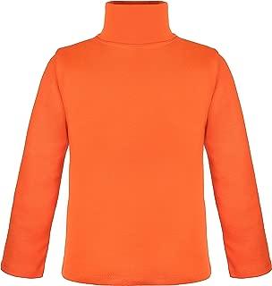 Girls' Basic Long Sleeve Turtleneck 100% Cotton T-Shirt
