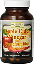 Only Natural Apple Cider Vinegar Plus Grapefruit Rind Cayenne Capsules 90-Count Estimated Price : £ 15,46
