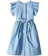Oscar de la Renta Childrenswear - Denim Blue Dress (Toddler/Little Kids/Big Kids)