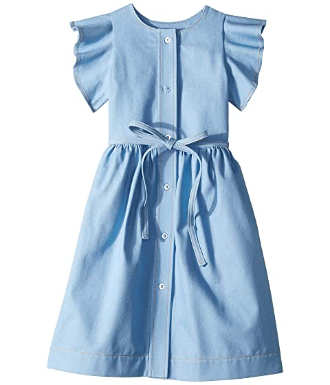 Oscar de la Renta Childrenswear Denim Blue Dress (Toddler/Little Kids/Big Kids)