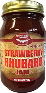 Gourmet Strawberry Rhubarb Jam 20oz Handcrafted Small Batch (All Natural)
