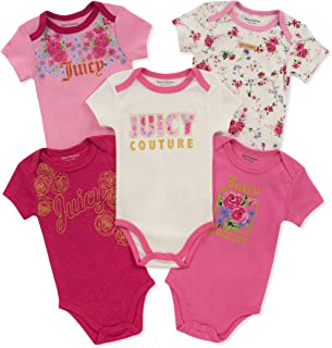 JUICY Couture 女婴连体服5件 Berry/Pink/Silent Vanilla 6-9 Months
