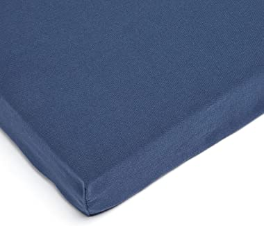 Amazon Basics Outdoor Patio Bench Cushion 45 x 18 x 3 Inches, Insignia Blue