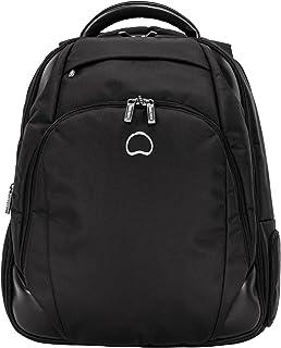 Delsey Paris Quarterback Plus 2-Compartments Expandable L Size - Pc Protection Laptop Backpack, Black (00119762200)